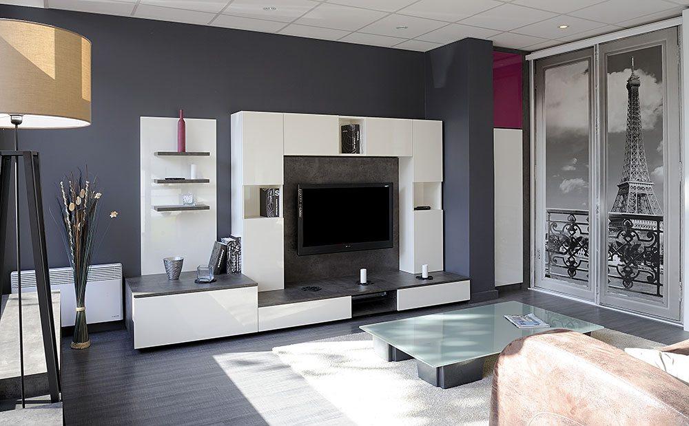 exemples de meuble tv et living amnags sur mesure
