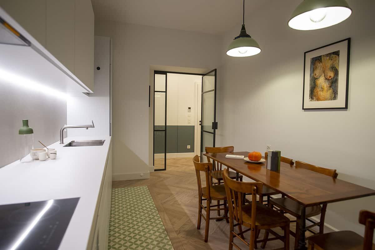 Porte en verre salle à manger cuisine