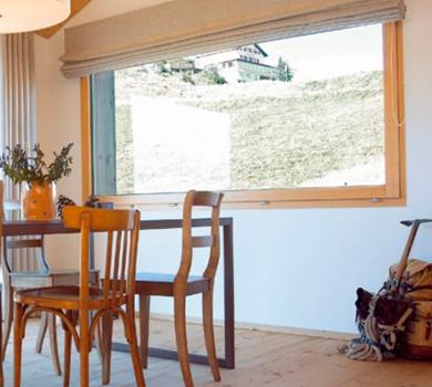 Modèle de porte fenêtre coulissante à levage en bois